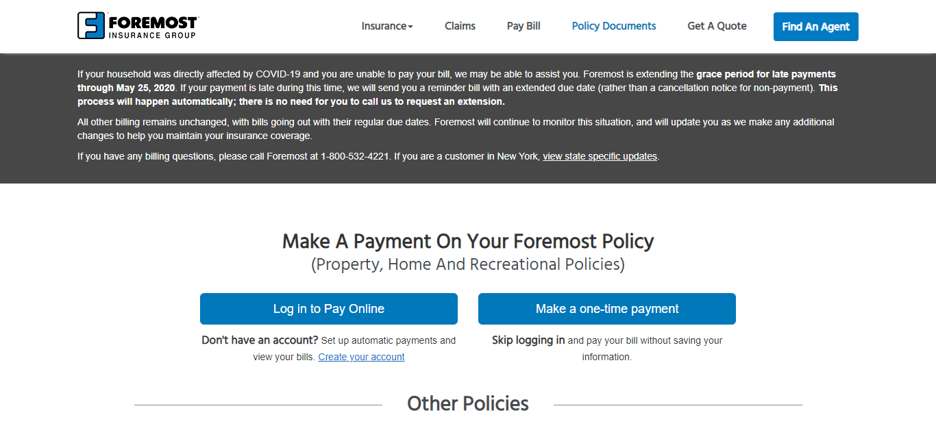 Login to ForemostPayOnline Insurance Account