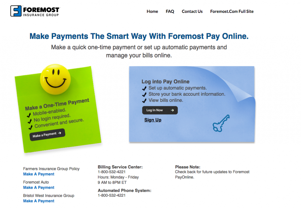 foremostpayonline - making payment online