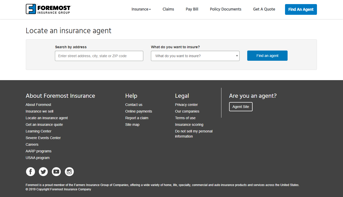 foremost insurance agent locator